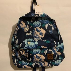 New Roxy Blue Floral Sugar River  Laptop Bag